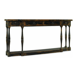 "Silver Nest - Rustic Thin Console Table- 72x12 34""h - Rustic Thin Console Table with Four Drawers"