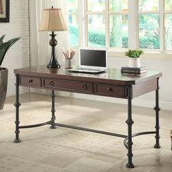 Riverside Fleet St. 56 In. Writing Desk - Bianca Cherry