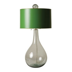 Esme Glass Table Lamp - I love colored lampshades. They're so fun and unique.
