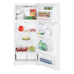 Hotpoint - HTS18CCSLWW 18.2 cu. ft. Top-Freezer Refrigerator with 2 Adjustable Wire Shelves - Upfront temperature controls easy-to-use controls regulate both fresh food and freezer sections Adjustable wire shelves moveable racks can handle a variety of foods Can storage door shelf holds cans in the door for easy selection and quick access