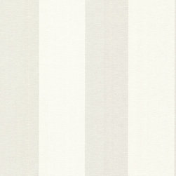 Brewster Home Fashions - Amalfi Light Grey Linen Stripe Wallpaper Bolt - A sophisticated stripe wallpaper with eternally chic bands of silver and white and a fine woven texture.