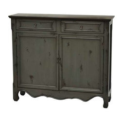 Greystone 2 Door 2 Drawer Cupboard - Greystone 2 Door 2 Drawer Cupboard 41 x 11 x 36