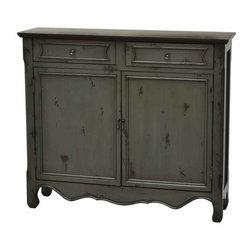 Greystone 2 Door 2 Drawer Cupboard - Greystone 2 Door 2 Drawer Cupboard 41 x 11 x 36