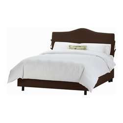 Skyline Furniture - 51 in. Slipcover Bed w Foam Padding in Chocol - Choose Size: KingIncludes decorative ties. Adjustable legs. Plush foam padding. Fits standard sized mattresses. Made from linen and viscose. Made in USA. Assembly required. Twin: 78 in. L x 41 in. W x 51 in. H (83 lbs.). Full: 78 in. L x 56 in. W x 51 in. H (96 lbs.). Queen: 83 in. L x 62 in. W x 51 in. H (96 lbs.). King: 83 in. L x 78 in. W x 51 in. H (117 lbs.). Cal king: 87 in. L x 74 in. W x 51 in. H (113 lbs.)