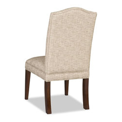 """Hooker Furniture - Hooker Furniture Armless Dining Chair - Set of 2 - Finished in our Ludlow finish with Muse Heathered fabric, this chair will bring elegance to any room. Muse Heathered Fabric Content: 58% Polyester, 42% Acrylic. Dimensions: 20.5""""W x 28.5""""D x 41""""H."""