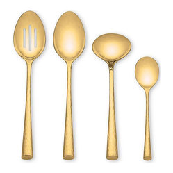 Marchesa by Lenox Flatware 18/10, Imperial Caviar Gold 4-Piece Hostess Set