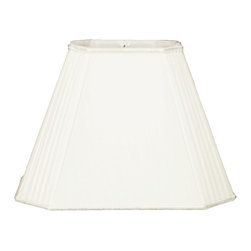 """Royal Designs, Inc"" - Rectangle Empire w Pleated Cut Corners Designer Lampshade w Staggered Pleats - ""This Rectangle Empire w Pleated Cut Corners Designer Lampshade w Staggered Pleats is a part of Royal Designs, Inc. Timeless Designer Shade Collection and is perfect for anyone who is looking for an elegant yet detailed lampshade. Royal Designs has been in the lampshade business since 1993 with their multiple shade lines that exemplify handcrafted quality and value."