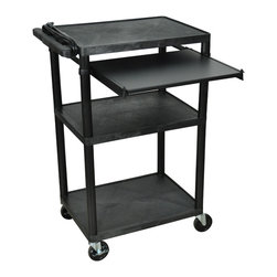 Luxor - Luxor Presentation Cart - LP42LE-B - Luxor LP series presentation station AV carts are made of recycled high density polyethylene structural foam molded plastic shelves that will not scratch, dent, rust or stain.