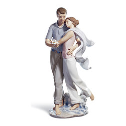 """Lladro Porcelain - Lladro You're Everything To Me Figurine - Plus One Year Accidental Breakage Repl - """"Hand Made In Valencia Spain - Sculpted By: Juan Ignacio Aliena - Included with this sculpture is replacement insurance against accidental breakage. The replacement insurance is valid for one year from the date of purchase and covers 100% of the cost to replace this sculpture (shipping not included). However once the sculpture retires or is no longer being made, the breakage coverage ends as the piece can no longer be replaced. """""""