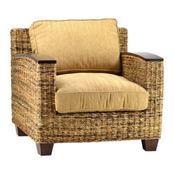 Aransas Chair - The Aransas Chair is the perfect lounge chair with its oversized wicker frame and thick, loose cushions.