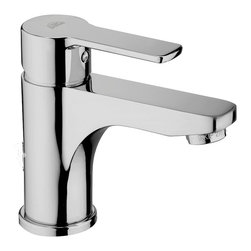 WS Bath Collections - Red Single Lever Bathroom Faucet - Red by WS Bath Collections, Single Lever Bathroom Faucet without Pop-up Waste in Polished Chrome Finish, Solid Brass Base, Without Pop-up Waste, Single Lever Controls Flow Rate and Temperature, Made in Italy