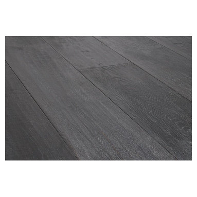 """Vanier - Vanier Engineered Hardwood - Extra Wide Plank Oak Collection - [22.7 sq ft/box] - Charleston Gray / Oak / Handscraped / 7 1/2"""" -Vanier's Extra Wide Plank line of engineered hardwood flooring offers a high-quality satin finish on a richly textured, Handscraped layer of real oak hardwood. This line is strengthened by the Klumpp UV Natural Oil finish which is free of any hazardous materials. Maintenance of these floors is made simple as the Natural Oil finish helps protect against dirt and liquids that may penetrate the surface.     This extra wide plank collection features a 3.5 mm top wear layer with a solid 5-ply meranti core for incredible dimensional stability. It is also constructed with a precision tongue & groove joint for a seamless installation.    The handscraped and wire brushed surface gives each plank a unique antique flooring appearance. Combine this with the 7 1/2��_ wide plank and beveled edges and this flooring is sure to add warmth and style to your home's interior."""