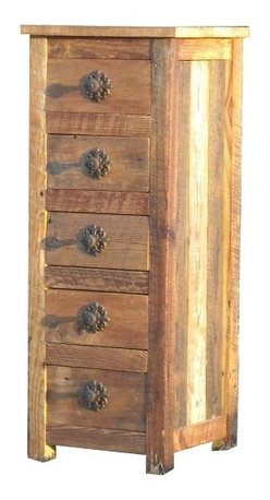 The Rusted Nail LLC - 5 Drawer Storage Stand - If you're a fan of salvaged wood and need a small chest or tall end table, check out this dresser. Handmade in Georgia from genuine reclaimed wood, this dresser has timeless character and space for your special treasures.