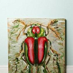 Ashley Longshore - Beetle On A Ripple By Ashley Longshore - *One of a kind