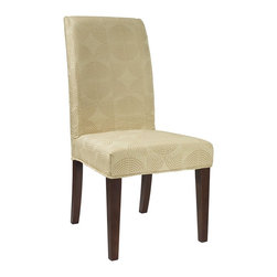 """Powell - Powell Zest Yellow Circle """"Slip Over"""" Slipcover X-Z942-147 - Designed exclusively for our """"Slip Over"""" Seating, this soft, inviting slipcover retains its smooth fit and removes easily for cleaning or changing. The Zest Yellow Circle """"Slip Over"""" is a great way to make your existing furniture new and different.  Featuring a yellow circle pattern fabric - 65% polyester, 35% rayon, this """"Slip Over"""" is visually interesting and would make a great addition to your home.  For use with 741-440 chair."""