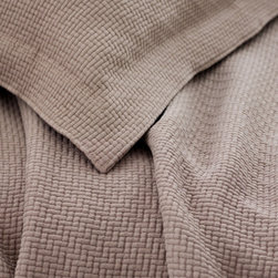 Pine Cone Hill - interlaken matelase coverlet (fossil) - This item comes in��fossil.��This item size is��various sizes.
