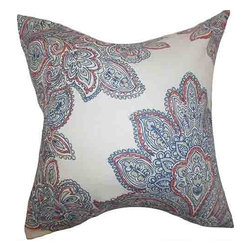 The Pillow Collection - Haldis Blue 18 x 18 Floral Throw Pillow - - Pillows have hidden zippers for easy removal and cleaning  - Reversible pillow with same fabric on both sides  - Comes standard with a 5/95 feather blend pillow insert  - All four sides have a clean knife-edge finish  - Pillow insert is 19 x 19 to ensure a tight and generous fit  - Cover and insert made in the USA  - Spot clean and Dry cleaning recommended  - Fill Material: 5/95 down feather blend The Pillow Collection - P18-D-MARIS-MILTI-L100