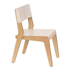 Housefish - Housefish Lock Dining Chair - Maple (Set of 2), White - The Lock dining chair is a clean lined, and comfortable chair.
