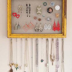 Vintage Clothing Blog | Vintage Wedding Dresses | Salvage Life: Salvaged Vintage - Great way to store jewelery!