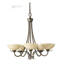 Murray Feiss - Murray Feiss MRF-F2423-5-CB Kinsey Transitional Chandelier - Simple and lyrical in style, this collection's curves are designed to compliment a broad range of architectural styles. Whether traditional, vintage, or modern these pieces will enhance any décor. Great rooms start with great lighting.
