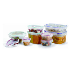 Snapware - Snapware Airtight 18-piece Canister Set - Store your food with this 18-piece canister set from Snapware. Small and medium bowls and square-shaped canister complete this set.