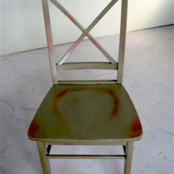 Cross Back Side Dining Chair - Made by http://www.ecustomfinishes.com