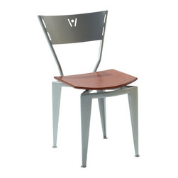 Createch - Metal Chair - St-120 (Aluminium) - Color: AluminiumHeavy-gauge steel material and efficient welding joints warranty for 5 years. Ultra resistant construction with thick steel metal. Modern style metal chair. Wood birch veneer seat. 18 in. W x 16 in. D x 31.5 in. H (25 lbs.). Custom made: Production time 3-4 wks.