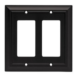 Liberty Hardware - Liberty Hardware 64211 Architectural WP Collection 4.96 Inch Switch Plate - A simple change can make a huge impact on the look and feel of any room. Change out your old wall plates and give any room a brand new feel. Experience the look of a quality Liberty Hardware wall plate. Width - 4.96 Inch, Height - 4.9 Inch, Projection - 0.2 Inch, Finish - Flat Black, Weight - 0.33 Lbs.