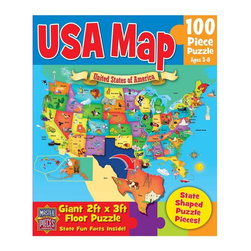 Masterpieces - Masterpieces Educational USA Map Puzzle Multicolor - 11120 - Shop for Puzzles from Hayneedle.com! About Masterpieces Puzzles & GamesFor the past 17+ years Masterpieces has delighted kids and parents. From art kits to puzzles of all levels Masterpieces ensures playtime activities that develop cognition as much as they foster fun. All Masterpiece items are tested for safety and this company is definitely eco-minded: All of their puzzles are manufactured using board with 100% recycled post-consumer materials their puzzle sheets wraps and catalogs are printed with soy-based inks and even included storage bags are biodegradable. Quality mindful products are what you can expect from Masterpieces.
