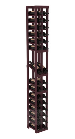 2 Column Display Row Cellar Kit in Pine with Burgundy Stain - Make your best vintage the focal point of your wine cellar. High-reveal display rows create a more intimate setting for avid collectors' wine cellars. Our wine cellar kits are constructed to industry-leading standards. You'll be satisfied. We guarantee it.