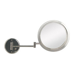 Zadro Products - Zadro Surround Light Chrome 5X Wall Mirror - SW35 - Shop for Bathroom Mirrors from Hayneedle.com! With the Zadro Surround Light Chrome 5X Wall Mirror you can have a clear reflection that s lighted with the look of clear natural sunlight. This 9.5-inch wall mirror can extend up to 14 inches from the wall on its adjustable base. The durable body of this wall fixture is finished in clean and sleek chrome.About Zadro ProductsZadro Products has been a leading innovator in bath accessories mirrors cosmetic accessories and health products for over 25 years. Among the company's innovations are the first fogless mirror first variable magnification mirror first surround light mirror and more. Not a company to rest on its laurels Zadro continues to adapt to the ever-changing needs of modern life.