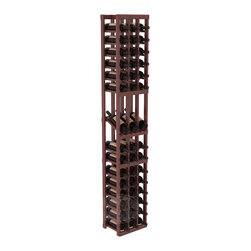 3 Column Display Row Cellar Kit in Redwood with Cherry Stain + Satin Finish - Make your best vintage the focal point of your wine cellar. High-reveal display rows create a more intimate setting for avid collectors' wine cellars. Our wine cellar kits are constructed to industry-leading standards. You'll be satisfied. We guarantee it.