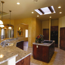 Eclectic Kitchen Countertops by Villa Custom Homes, Inc.