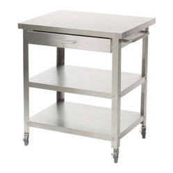 Stainless Steel Kitchen Cart without Top
