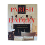 """Pre-owned First Edition Signed """"Parish-Hadley"""" Book - An exploration of Parish-hadley designs. Sister Parish and Albert Hadley, most famously known for the redecoration of the Kennedy White House, have had a powerful impact on the interior design world and we see their timeless influence in many contemporary spaces. Please note, there is original shelf wear to the cover and a minor mark to the page above the signature.    """"Parish-Hadley: Sixty Years of American Design"""" -- Sister Parish, Albert Hadley, and Christopher Petkanas. Little, Brown and Company, 1995.     Hardcover, First Edition. Signed -- """"For Michelle Brown - With Pleasure!, Albert Hadley, 3.13.98""""."""