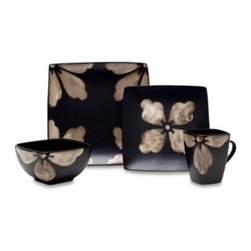 Baum - Baum Kasbar Tile 16-Piece Dinnerware Set in Ivory - Kasbar Dinnerware features a hand-painted reactive mosaic pattern on ceramic stoneware. The overscale pattern is sure to add drama to your dinner table.