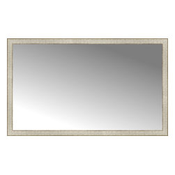 """Posters 2 Prints, LLC - 56"""" x 34"""" Libretto Antique Silver Custom Framed Mirror - 56"""" x 34"""" Custom Framed Mirror made by Posters 2 Prints. Standard glass with unrivaled selection of crafted mirror frames.  Protected with category II safety backing to keep glass fragments together should the mirror be accidentally broken.  Safe arrival guaranteed.  Made in the United States of America"""
