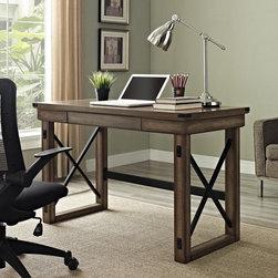 Altra Wildwood Metal Frame Rustic Desk -