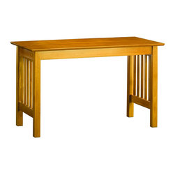 Atlantic Furniture - Atlantic Furniture Mission Work Table in Caramel Latte - Atlantic Furniture - Work Table - AH11217 - The perfect size for any office the Mission Work Table gets the job done by itself or with help from a Printer Stand or Writing Table.