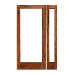 """Prehung Rustic-1-lite Patio Solid Wood IG Glass Side light Door - SKU#Rustic-1-lite-Ext-1-1BrandAAWDoor TypeFrenchManufacturer CollectionRustic French DoorsDoor ModelDoor MaterialWoodWoodgrainTropical HardwoodVeneerPrice1178Door Size Options[24""""+14"""" x 80""""] (3'-2"""" x 6'-8"""")  $0[24""""+18"""" x 80""""] (3'-6"""" x 6'-8"""")  $0[30""""+14"""" x 80""""] (3'-8"""" x 6'-8"""")  +$20[30""""+18"""" x 80""""] (4'-0"""" x 6'-8"""")  +$20[32""""+14"""" x 80""""] (3'-10"""" x 6'-8"""")  +$20[32""""+18"""" x 80""""] (4'-2"""" x 6'-8"""")  +$20[36""""+14"""" x 80""""] (4'-2"""" x 6'-8"""")  +$20[36""""+18"""" x 80""""] (4'-6"""" x 6'-8"""")  +$20[24""""+14"""" x 96""""] (3'-2"""" x 8'-0"""")  +$246[24""""+18"""" x 96""""] (3'-6"""" x 8'-0"""")  +$256[30""""+14"""" x 96""""] (3'-8"""" x 8'-0"""")  +$256[30""""+18"""" x 96""""] (4'-0"""" x 8'-0"""")  +$266[32""""+14"""" x 96""""] (3'-10"""" x 8'-0"""")  +$256[32""""+18"""" x 96""""] (4'-2"""" x 8'-0"""")  +$266[36""""+14"""" x 96""""] (4'-2"""" x 8'-0"""")  +$256[36""""+18"""" x 96""""] (4'-6"""" x 8'-0"""")  +$266Core TypeSolidDoor StyleDoor Lite StyleFull Lite , 1 LiteDoor Panel StyleChamfer StickingHome Style MatchingMediterranean , LogDoor ConstructionEngineered Stiles and RailsPrehanging OptionsPrehungPrehung ConfigurationDoor with One SideliteDoor Thickness (Inches)1.75Glass Thickness (Inches)1/2Glass TypeDouble GlazedGlass CamingGlass FeaturesInsulated , Tempered , low-E , Beveled , DualGlass StyleClear , White LaminatedGlass TextureClear , White LaminatedGlass ObscurityNo Obscurity , High ObscurityDoor FeaturesDoor ApprovalsFSCDoor FinishesDoor AccessoriesWeight (lbs)510Crating Size25"""" (w)x 108"""" (l)x 52"""" (h)Lead TimeSlab Doors: 7 daysPrehung:14 daysPrefinished, PreHung:21 daysWarranty1 Year Limited Manufacturer WarrantyHere you can download warranty PDF document."""