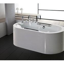 "Aquatica - Aquatica PureScape 306 Freestanding Acrylic Bathtub - White - Treat yourself and soak in peaceful tranquility with Aquatica's stylish and ergonomic PureScape 306 freestanding bathtub. Aquatica challenges everything we thought we knew about a bathtub with the world-class modern design and ergonomic features that are incorporated into all of their luxury tubs. Aquatica Purescape bathtubs are as pleasing to the eye as they are to soak in. Their striking visual appeal adds a mesmerizing modern elegance to any bathroom. From the finest selection of raw materials all the way to the high-class design, Aquatica has spared no expense to innovate and create some of the highest quality bathtubs in the world.FEATURES:Striking upscale modern designFreestanding constructionSolid, one-piece construction for safety and durabilityExtra deep, full-body soakErgonomic design forms to the body's shape for ultimate comfortQuick and easy installationConstructed of 8mm thick 100% heavy gauge sanitary grade precision acrylicPremium acrylic and tub thickness provides for excellent heat retentionHigh gloss white surfaceColor is consistent throughout its thickness - not painted onColor will not fade or lose its brilliance overtimePreinstalled cable drive pop up and waste-overflow fitting includedDesigned for one or two person bathingNon-porous surface for easy cleaning and sanitizingBuilt-in metal base frame and adjustable height metal legsChrome plated drain5 Year Limited WarrantyCode compliant with American standard 1.5"" waste outletsSPECIFICATIONS:Overall Dimensions: 68 in. L X 34.75 in. W X 23.25 in. HDepth to Overflow Drain: 13 in.Interior Depth: 17.5 in.Interior Length (Top): 58.67 in.Interior Width (Top): 25.25 in.Interior Length (Bottom): 44 in.Interior Width (Bottom): 19 in.Weight: 199 lbsCapacity: 53 GallonsShape: OvalDrain Placement: CenterSpec SheetNote: This model usually ships in 4-6 weeks. Please allow an additional 2-3 business days for order transmittal and verification."