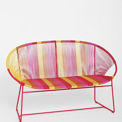 Plum & Bow Striped Love Seat - This bright, striped love seat is perfect for outdoors and in. It's a great add-on to your home this spring!