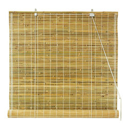 Oriental Furniture - Burnt Bamboo Roll Up Blinds - Natural 72 Inch, Width - 72 Inches - - Burnt bamboo roll up blinds are a versatile addition to any window.  They will fit in with any decor and are available in a wide variety of sizes.   Easy to hang and operate.  Available in five sizes, 24W, 36W, 48W, 60W and 72W.  All sizes measure 72 long. Oriental Furniture - WT-YJ1-8B50-72W