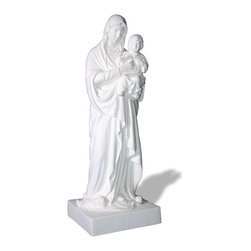 ResinStone - Madonna with Child Statue - Amedeo's Adoration Fatima Statue is wonderfully crafted and ornate. Amedeo's religious statues known for their quality and accuracy are found throughout the US and the world. Though they look like ancient European & Mediterranean designs in carved stone, our products are made of lightweight weatherproof ResinStone�. So authentic, you actually have to lift them to convince yourself they're not stone at all! Made in USA.