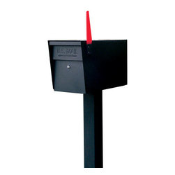 Heavy-Duty Locking Mailbox and Post Set - Identity theft can happen to anyone. Protect your identity and private information with this heavy duty, locking security mailbox, designed with your safety in mind. It is constructed of tough, heavy gauge galvanized steel that will not only withstand years of the harshest weather but also withstand any vandalism with its commercial-grade anti-pick lock. This full service, large capacity locking mailbox has a clean and simple design.  It can be mounted on matching in-ground steel mailbox post or simply attached to most preexisting mailbox stands.