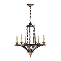 Cyan Design - Cyan Design San Giorgio Six Light Chandelier in Oiled Bronze - San Giorgio Six Light Chandelier in Oiled Bronze