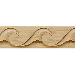 "Inviting Home - Monterey Carved Wood Molding - Wood panel molding 1""H x 1/4""P x 8'00""L sold in 8 foot length 4 piece minimum order required Wood panel molding specifications: Outstanding quality molding profile carved from high grade kiln dried solid European beech wood. High relief decorative design is machine carved. Wood molding is sold unfinished and can be easily stained painted or glazed. The installation of the wood molding should be treated the same manner as you would treat any wood molding: all molding should be kept in a clean and dry environment away from excessive moisture. acclimate wooden moldings for 5-7 days. when installing wood moldings it is recommended to nail molding securely to studs; pre-drill when necessary and glue all mitered corners for maximum support."