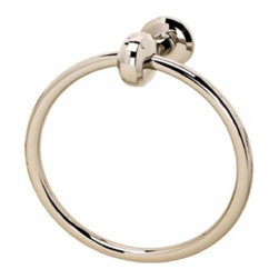 Alno Inc. - Alno Aria Towel Ring Polished Brass (Image In Polished Nickel) - Alno Aria Towel Ring Polished Brass (Image In Polished Nickel)