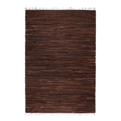 Surya - Havana Loomed Stripe Pattern Rug in Black and Chocolate (2' x 3') - Fashionable and stylish accessory for your excellent interior in a durable and modern design. The Havana Loomed Stripe Pattern Rug in Black and Chocolate is loom weavedusing the innovative materials that gives it main advantage.    Features: