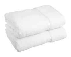 Luxurious Egyptian Cotton 900 Gram 2-Piece White Bath Towel Set - Luxurious Egyptian Cotton 900GSM 2pc White Bath Towel Set